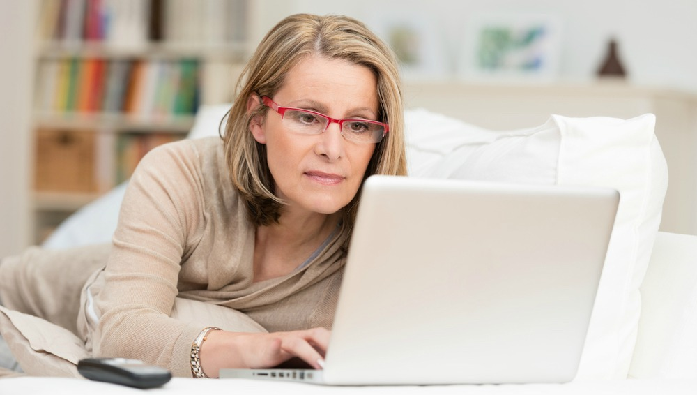 Author with laptop